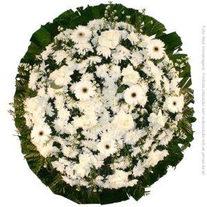 Coroa de Flores Tradicional Branca
